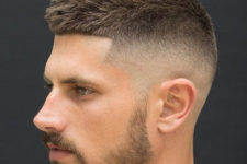 05 a crew cut with a fade is a super modern and bold idea to show off your style