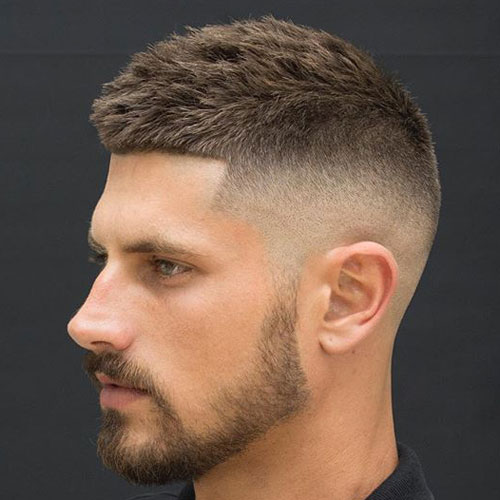a crew cut with a fade is a super modern and bold idea to show off your style