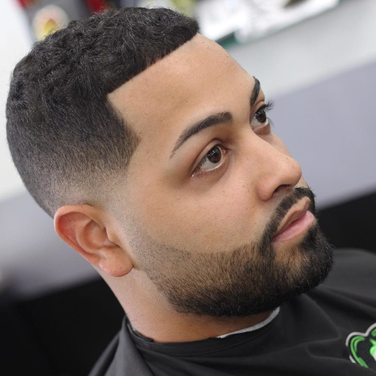 a skin fade line up looks very neat and sleek on thick hair