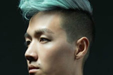 05 a wavy quiff mohawk haircut is a bold and chic modern idea, which can be highlighted with a bright color