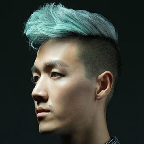 a wavy quiff mohawk haircut is a bold and chic modern idea, which can be highlighted with a bright color