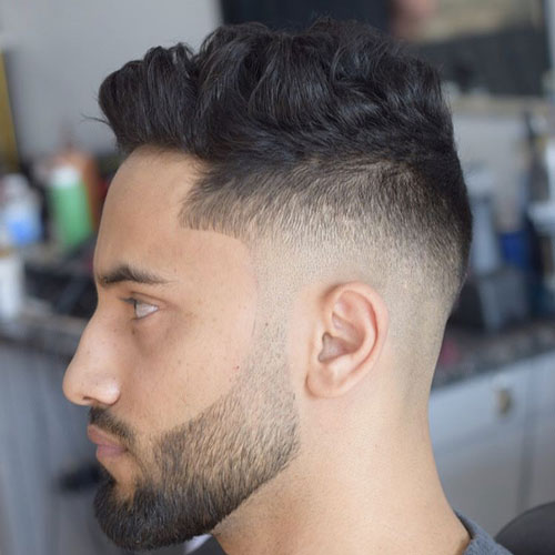 a quiff spruced up with a medium fade for an ultra-modern and chic look