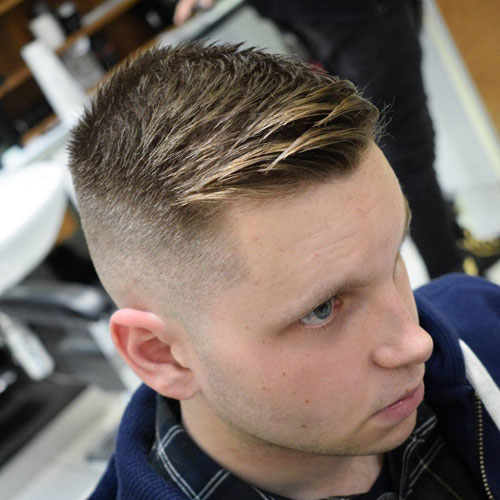 a side swept crew cut is a stylish and sexy way and gives your various opportunities for styling