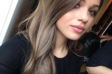 06 an ombre look from brown to ashy brown on logn locks is a stylish idea to try