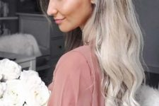 07 a chic half updo with a side braid and long waves is amazing for girls with long hair