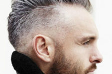 a pompadour mohawk haircut looks so trendy and modern