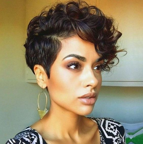 a short curly pixie haircut looks very catchy and very inspiring