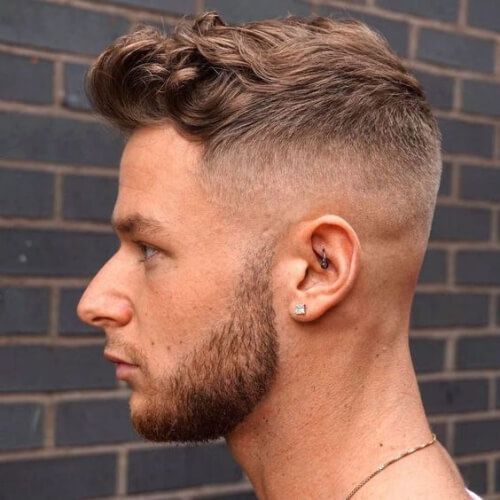 a hip mid fade haircut is effortlessly chic and fashionable