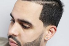 08 a line up quiff haircut with a beard is a stylish and elegant idea for those who want a retro feel