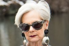 10 a chic long pixie haircut in icy blonde is a gorgeous idea for a mature lady