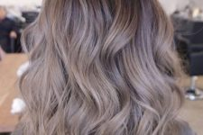 10 brown hair with ashy brown balayage and waves is a cool idea to imitate sunburnt locks