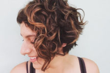 11 a curly inverted bob is a stylish and chic idea if you love short hair