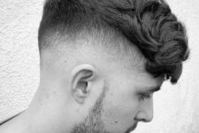 11 a thick crop and a drop fade is a contrasting idea to show off your style
