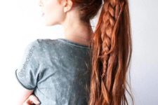 12 a gorgeous high ponytail with a braid plus a braided halo for a boho feel