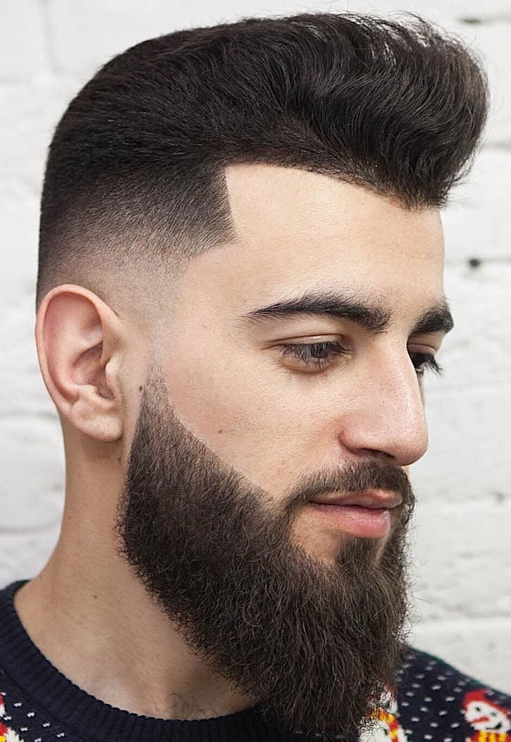 a line up with a pompadour is a whimsy and creative option to try