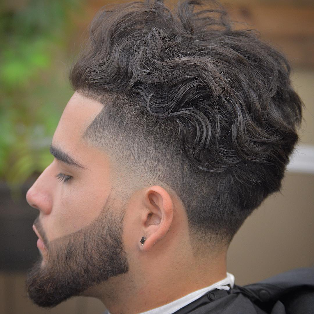 wavy line up hairstyle for a stylish man