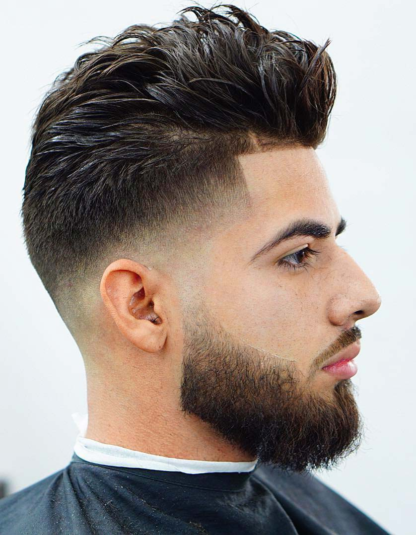 Picture Of A Messy Hairstyle With Line Up Features Much Texture And