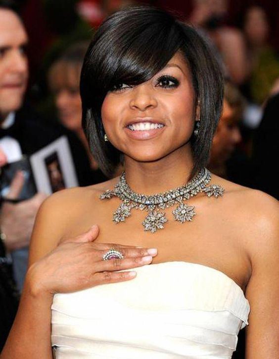 a short bob with side bangs is amazing for fine and for straight hair to show off the volume
