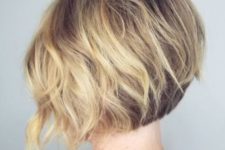 14 a short wavy inverted bob is a great take on a classic bob