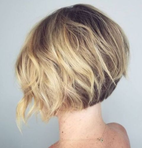 a short wavy inverted bob is a great take on a classic bob