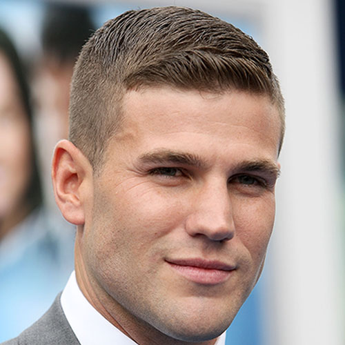 a side swept crew cut and a high taper fade is an elegant option to try