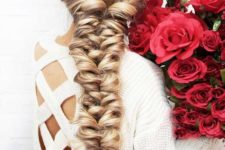 14 a super dimensional twisted long braid with waves is a great idea if you have long hair