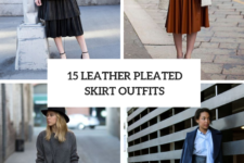 15 Amazing Outfits With Leather Pleated Skirts