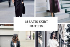 15 Chic Outfit Ideas With Satin Skirts