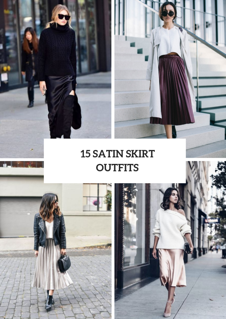 ed59a0386d7 15 Chic Outfit Ideas With Satin Skirts - Styleoholic