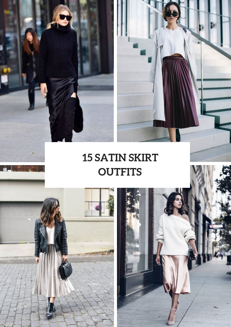 Chic Outfit Ideas With Satin Skirts