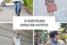 15 Cozy Outfits With Sleeveless Sweaters