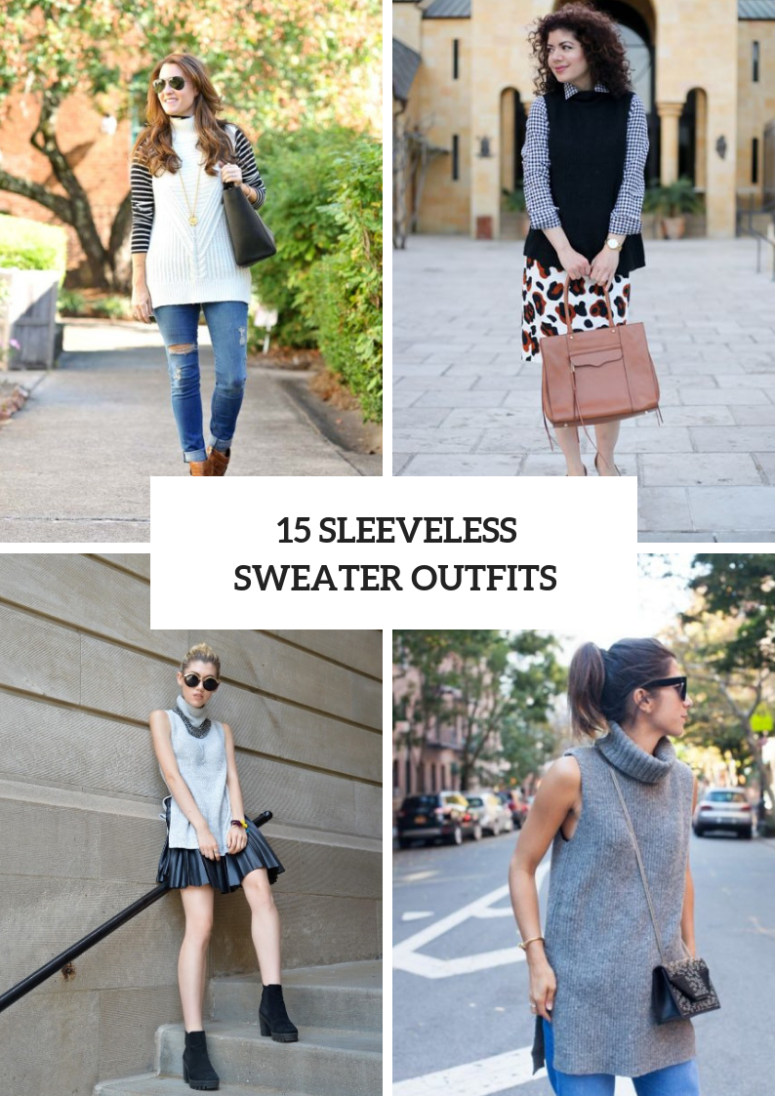 Cozy Outfits With Sleeveless Sweaters