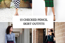 15 Elegant Outfit Ideas With Checked Pencil Skirts