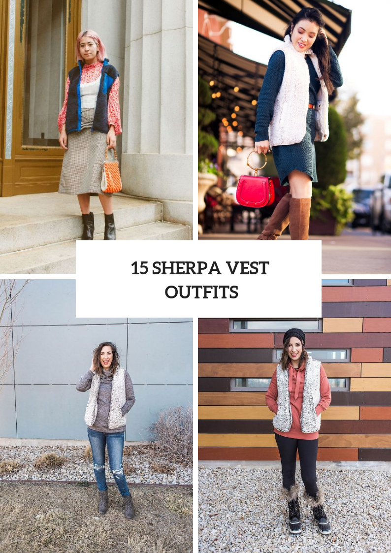 Sherpa Vest Outfits For Stylish Women