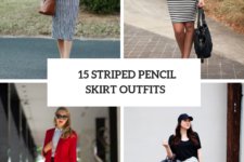 15 Spring Outfits With Striped Pencil Skirts