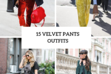 15 Wonderful Outfits With Velvet Pants