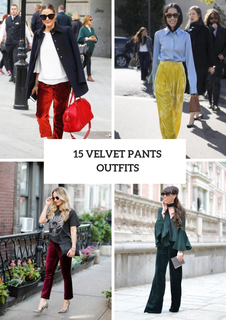 15 Wonderful Outfits With Velvet Pants Styleoholic