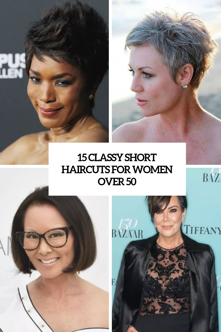 classy short haircuts for women over 50 cover