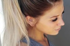 16 add a boho feel to your look with a fishtail braid on top and a high ponytail