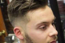 16 this mid fade haircut plus a long top is a stylish idea with a relaxed feel