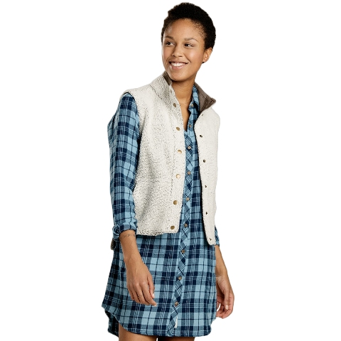 plaid dress outfit with a vest