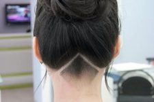 a simple, clean and very neat long undercut hairstyle for a chic look