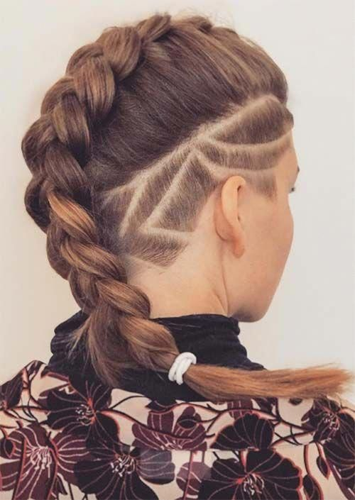 Picture Of an undercut long bob with rather a natural hair