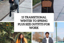 transitional winter to spring plus size outfits for work cover
