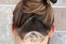 try various patterns or tattoos on your head rocking long hair and shaving