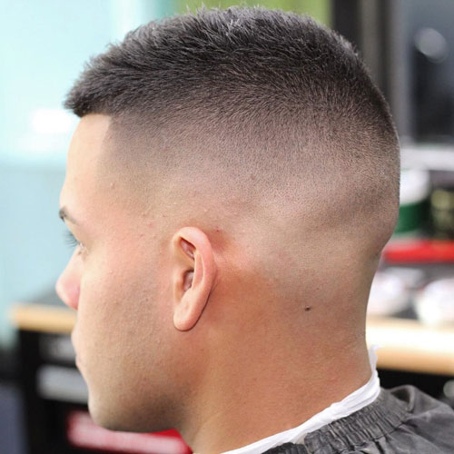 a high razor fade and short hair on top are a hot idea for a modern guy