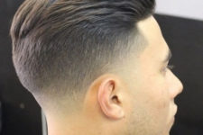 03 a taper fade undercut is one of current favorites, the transition between lengths is very soft