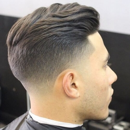a taper fade undercut is one of current favorites, the transition between lengths is very soft