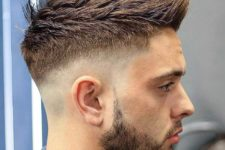 04 a skin sharp fade faux hawk works well with pointy hair and gives a modern masculine look