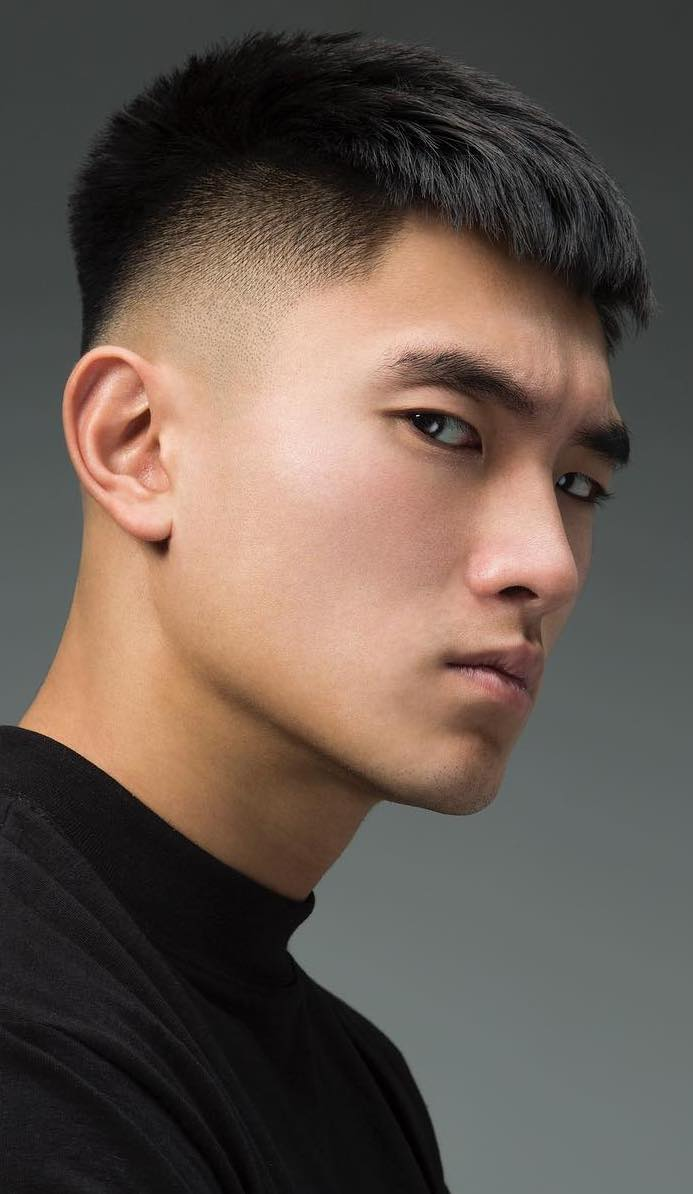 a tapered classic haircut with a French crop vibe looks very neat and clean-lined